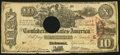 Confederate Notes:1861 Issues, Trans-Mississippi Stamp T29 $10 1861.. ...