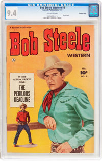 Bob Steele Western #3 Crowley Copy Pedigree (Fawcett Publications, 1951) CGC NM 9.4 Off-white pages