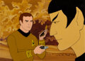 Movie/TV Memorabilia:Original Art, Star Trek: The Animated Series Captain Kirk and SpockProduction Cel Setup (Filmation, 1974)......