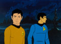Movie/TV Memorabilia:Original Art, Star Trek: The Animated Series Sulu and Spock Production CelSetup (Filmation, c. 1973-74)....