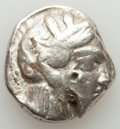 Ancients:Greek, Ancients: ATTICA. Athens. Ca. 440-404 BC. AR tetradrachm (16.89gm). Fine, test cuts, punch, bankers marks....