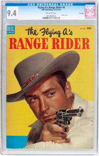 The Flying A's Range Rider #4 File Copy (Dell, 1953) CGC NM 9.4 Off-white pages