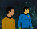 Movie/TV Memorabilia:Original Art, Star Trek: The Animated Series Sulu and Spock Production CelSetup (Filmation, c. 1973-74). ...