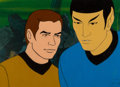 Movie/TV Memorabilia:Original Art, Star Trek: The Animated Series Captain Kirk and Spock Production Cel Setup (Filmation, c. 1973-74). ...
