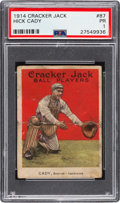 Baseball Cards:Singles (Pre-1930), 1914 Cracker Jack Hick Cady #87 PSA Poor 1 - A Certified Rarity....