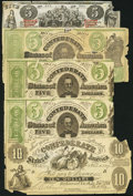 Confederate Notes:Group Lots, Quintet of Contemporary Counterfeits.. ... (Total: 5 notes)