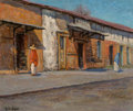 Fine Art - Painting, American, Rolla Sims Taylor (American, 1872-1970). Governors Palace, SanAntonio. Oil on canvas. 20 x 24 inches (50.8 x 61.0 cm). ...