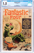 Silver Age (1956-1969):Superhero, Fantastic Four #1 (Marvel, 1961) CGC FR/GD 1.5 Cream to off-whitepages....