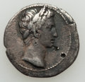 Ancients:Ancient Lots  , Ancients: ANCIENT LOTS. Roman Imperial. Augustus (27 BC-AD 14). Lotof two (2) AR denarii, one is fourrée. VF.... (Total: 2 coins)