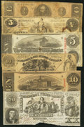 Confederate Notes:Group Lots, Six Confederate Types.. ... (Total: 6 notes)