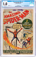 Silver Age (1956-1969):Superhero, The Amazing Spider-Man #1 (Marvel, 1963) CGC FR 1.0 Off-whitepages....