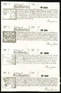 Colonial Notes:New Hampshire, New Hampshire June 20, 1775 40s-20s-6s-1s Cohen Reprint UnifaceUncut Sheet About New.. ...