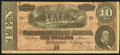 Confederate Notes:1864 Issues, Advertising Note T68 $10 1864.. ...