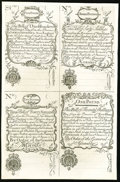 Colonial Notes:New Hampshire, New Hampshire April 1, 1737 Redated August 7, 1740£5/100s-£2/40s-£3/60s-£1/20s Cohen Reprint Uniface Uncut SheetNew.. ...