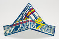 Prints & Multiples, After Roy Lichtenstein . Hat Boat, 1968. Offset lithograph in colors with laminate on paper. 7-1/4 x 14 inches (18.4 x 3...