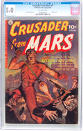 Golden Age (1938-1955):Science Fiction, Crusader from Mars #1 (Ziff-Davis, 1952) CGC VG/FN 5.0 Off-whitepages....