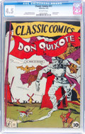 Golden Age (1938-1955):Classics Illustrated, Classic Comics #11 Don Quixote (Gilberton, 1943) CGC VG+ 4.5Off-white pages....
