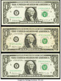 Error Notes:Error Group Lots, $1 FRN Errors Three Examples.. ... (Total: 3 notes)