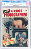 Golden Age (1938-1955):Crime, Casey-Crime Photographer #1 (Marvel, 1949) CGC VF- 7.5 Off-white to white pages....