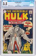 Silver Age (1956-1969):Superhero, The Incredible Hulk #1 UK Edition (Marvel, 1962) CGC VG- 3.5 Creamto off-white pages....
