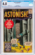 Silver Age (1956-1969):Horror, Tales to Astonish #1 (Marvel, 1959) CGC VG 4.0 Cream to off-whitepages....