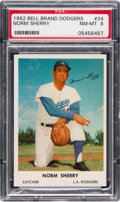 Baseball Cards:Singles (1960-1969), 1962 Bell Brand Dodgers Norm Sherry #34 PSA NM-MT 8 - None Higher....