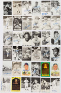 Autographs:Post Cards, Hall of Fame Signed Postcard Lot of 36.. ...