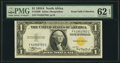 Small Size:World War II Emergency Notes, Fr. 2306 $1 1935A North Africa Silver Certificate. F-C Block. PMG Uncirculated 62 EPQ.. ...