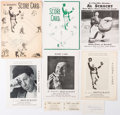 Autographs:Others, Al Schacht Lot, including 5 Signatures.. ...