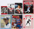 Autographs:Others, Signed Sports Publication Lot of 7 - Including Rose, Thomas, andOthers.. ...