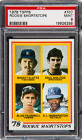 Baseball Cards:Singles (1970-Now), 1978 Topps Molitor/Trammell - Rookie Shortstops #707 PSA Mint 9....