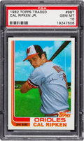 Baseball Cards:Singles (1970-Now), 1982 Topps Traded Cal Ripken Jr. #98T PSA Gem Mint 10. ...