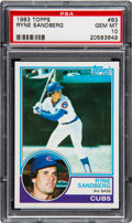 Baseball Cards:Singles (1970-Now), 1983 Topps Ryne Sandberg #83 PSA Gem Mint 10. Offe...