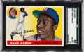 Baseball Cards:Singles (1950-1959), 1955 Topps Hank Aaron #47 SGC 88 NM/MT 8....