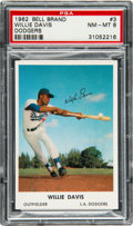 Baseball Cards:Singles (1960-1969), 1962 Bell Bread Dodgers Willie Davis #3 PSA NM-MT 8 - Pop ...