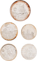 Explorers:Space Exploration, Apollo 11 Medals: Collection of Five in .999 Fine Silver. ...