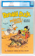 Golden Age (1938-1955):Cartoon Character, Four Color #9 Donald Duck (Dell, 1942) CGC VG- 3.5 Off-white towhite pages....