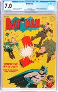 Golden Age (1938-1955):Superhero, Batman #18 (DC, 1943) CGC FN/VF 7.0 Off-white to white pages....