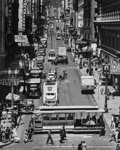 Photographs:Gelatin Silver, Max Yavno (American, 1911-1985). Powell Street, San Francisco, 1947. Gelatin silver, printed later. 19-1/2 x 15-1/2 inch...