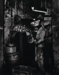 Photographs:Gelatin Silver, Max Yavno (American, 1911-1985). Untitled (Boys in paper hats polishing metal), circa 1980s. Gelatin silver. 19-1/4 x 15...