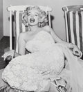 Photographs:Gelatin Silver, Frank Worth (American, 1923-2000). Marilyn Monroe in aDeckchair, 1954. Gelatin silver, printed later. 16-3/4 x 14-7/8i...