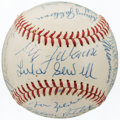 Autographs:Baseballs, 1944 St. Louis Browns Team Signed Baseball (19 Signatures).. ...