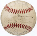 Autographs:Baseballs, 1939 Chicago Cubs Team Signed Baseball (25 Signatures).. ...