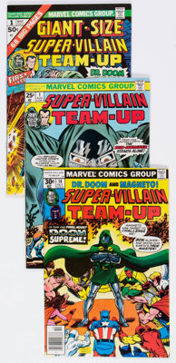 Super-Villain Team-Up #1-17 Complete Series Group (Marvel, 1975-80) Condition: VF.... (Total: 19 Comic Books)