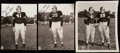 Autographs:Photos, Doc Blanchard and Glenn Davis Type I Photo Lot of 3, with 2Signed.. ...