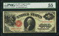 Large Size:Legal Tender Notes, Fr. 36 $1 1917 Legal Tender PMG About Uncirculated 55....