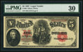 Large Size:Legal Tender Notes, Fr. 90 $5 1907 Legal Tender PMG Very Fine 30....