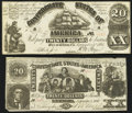Confederate Notes:Group Lots, CT18/107A Counterfeit $20 1861;. CT20/142 Counterfeit $20 1861..... (Total: 2 notes)