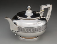 An Important Tiffany & Co. Silver Teapot Made with Silver from the Comstock Lode, New York City, circa 1865 Marks:...