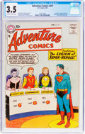 Silver Age (1956-1969):Superhero, Adventure Comics #247 (DC, 1958) CGC VG- 3.5 Off-white to white pages....